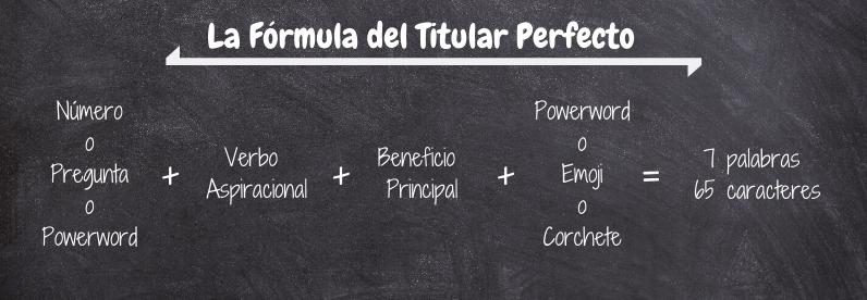 Formula Escribir Titular