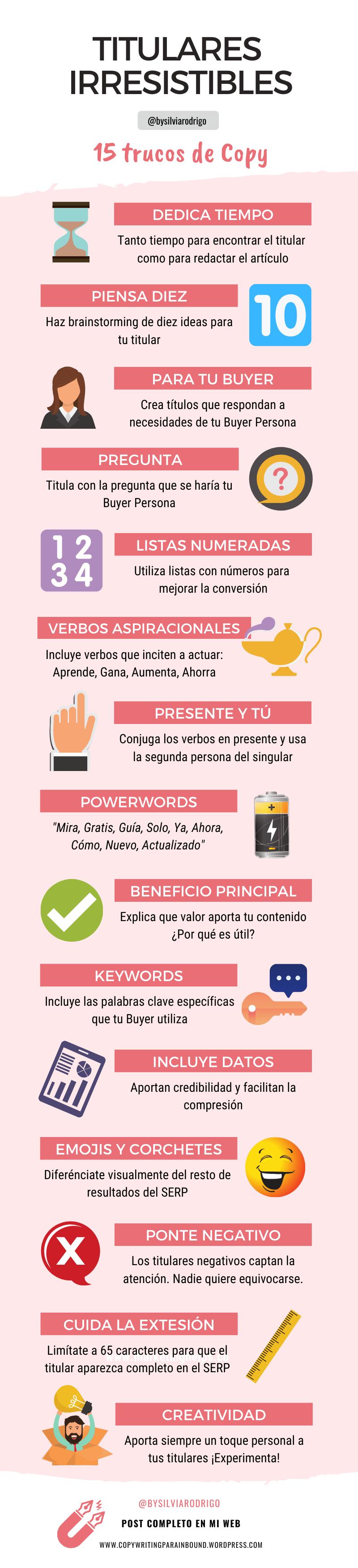 Infografia Escribir Titulares